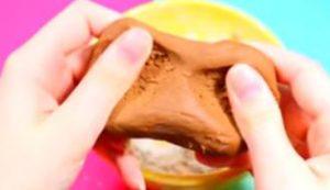 slime con harina y nutella