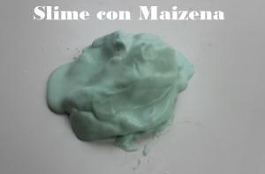cómo hacer slime con maizena
